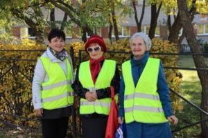 Серебряные волонтёры приняли участие в общегородском профилактическом мероприятии «Пешеход»