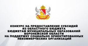 Департамент социальной защиты опубликовал список победителей конкурса на предоставление субсидий из областного бюджета бюджетам муниципальных образований Воронежской области на поддержку СО НКО