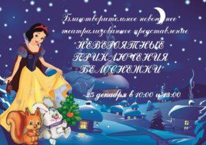 Новогодние благотворительные представления в Дворце творчества детей и молодёжи