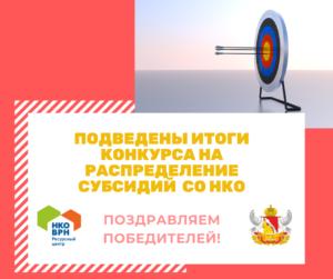 Подведены итоги областного конкурса по распределению субсидий СО НКО