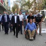 Мэр Воронежа и руководитель АНО «Доступная среда» проверили качество новых тротуаров
